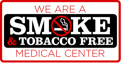 Smoke free medical center poster